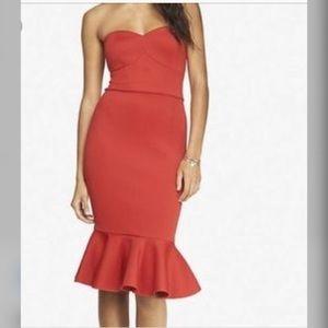 🔥 Red Express brand mermaid strapless dress